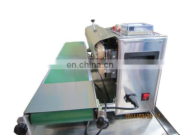 plastic film aluminum foil sealing Vertical continuous band bag sealer machine