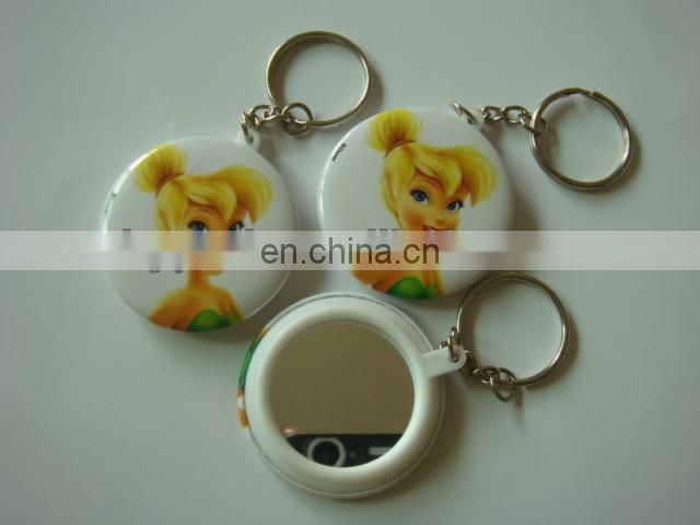 safety plastic mirror keychain badge for kids