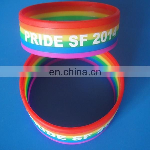 Promotional homosexual LGBT gay pride silicone/pvc wristband for gay pride day