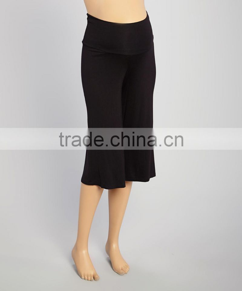 New Summer Maternity Trousers With Black Maternity Gaucho Pants Soft Women Clothes WP80817-8