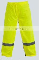 2015 fluorescent Hi-vis work wear girls refllective rain sports pant