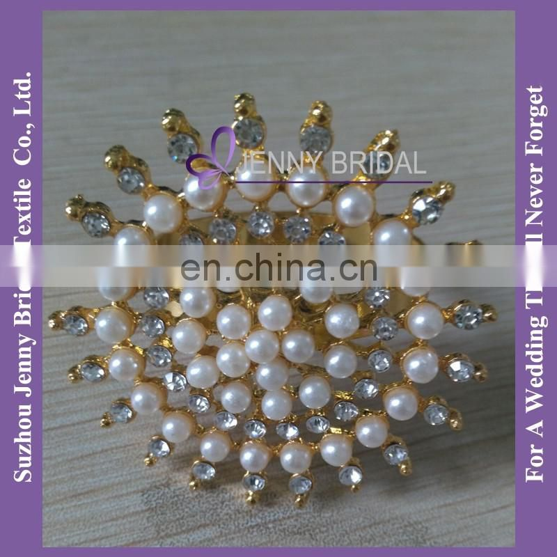 NR174 gold napkin rings pearl wholesale napkin rings for weddings