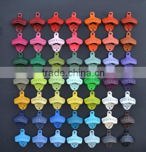 Over 50 Colors Cast Iron Opener Rustic Barware Beer Accessories Kitchen Decor Patio Decor Man Cave Decor Wall Mounted Bottle Ope