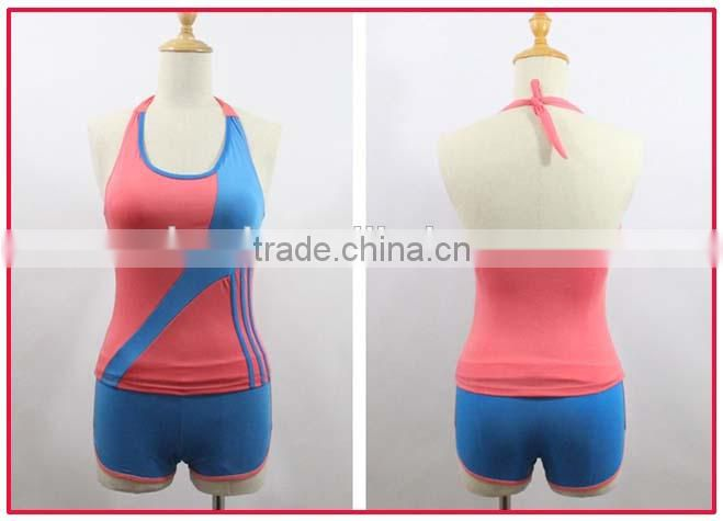 2014 new sports suit china sex girls photos halter neck boxers split swimsuit sexy lingerie swimwear