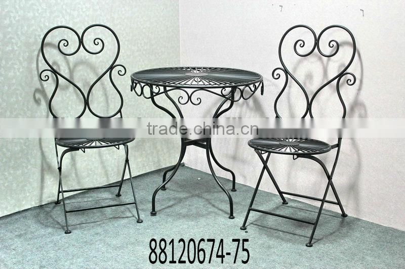Metal table and chairs