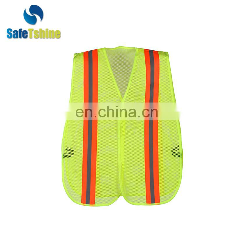 reflective hot selling cheap High-Visibility vest reflective vest safety vest in fluorescent color safety waist coat high quali