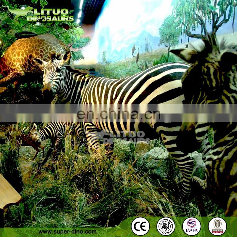 Indoor Theme Park Animated African Animal Model Exhibit