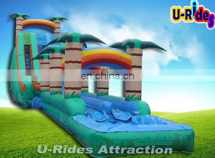 14ml Cliffhanger Inflatable Water Slide For Water Park