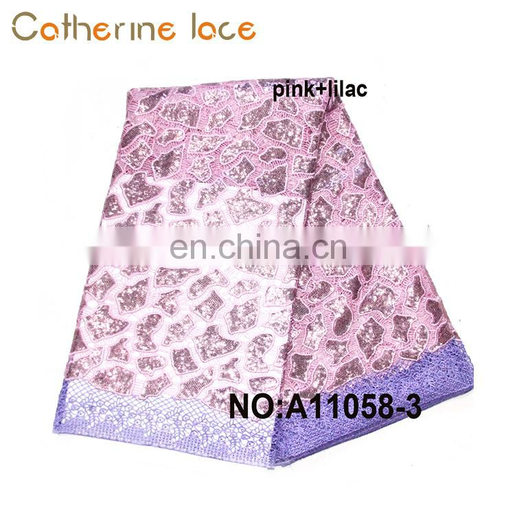 Catherine Guangzhou Top Sale Flower Series African Swiss Voile Lace Fabric