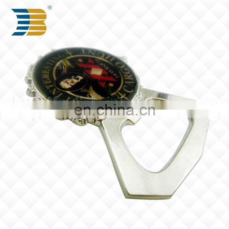 Wholesale custom cheap high quality epoxy metal bottle opener