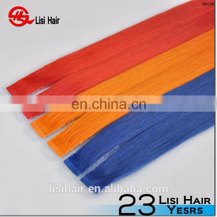 Trade Assurance Super Tape double drawn cheap wholesale double drawn hair extension tape strips