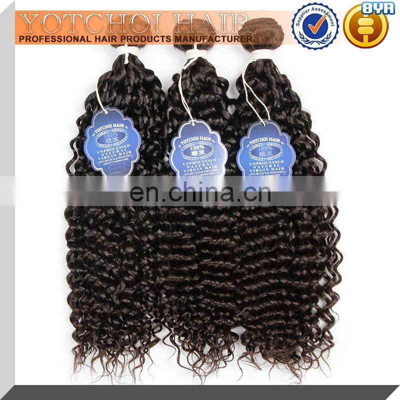 8A Grade Qingdao Yotchoi Hair Product 100% Unprocessed Virgin Brazilian Human Hair Curly Hair Extension For Black
