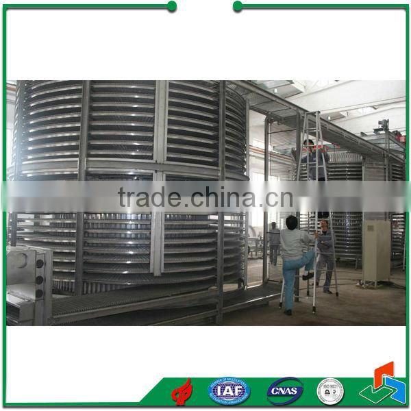 China Spiral IQF freezer For Fruit Vegetable Processing