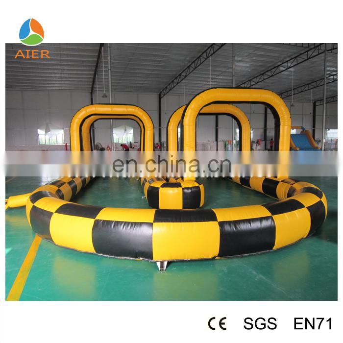 inflatable kart track, inflatable race track for kart, inflatable air tumble track