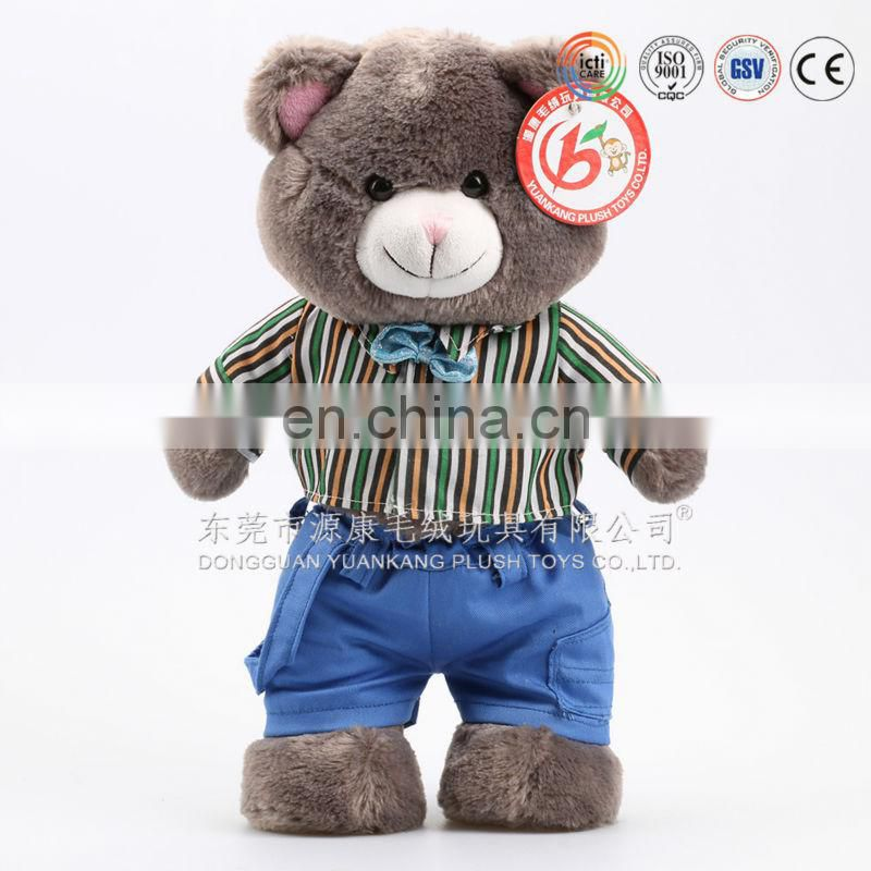 Wholesale personalized colorful cute teddy bears with clothes