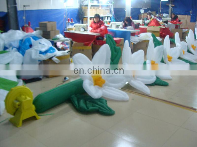 Well design inflatable stage cover inflatable flower chain decoration