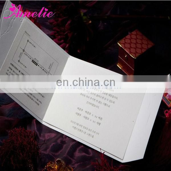 A0434 Wholesale White And Red Color Festival Invitation Card