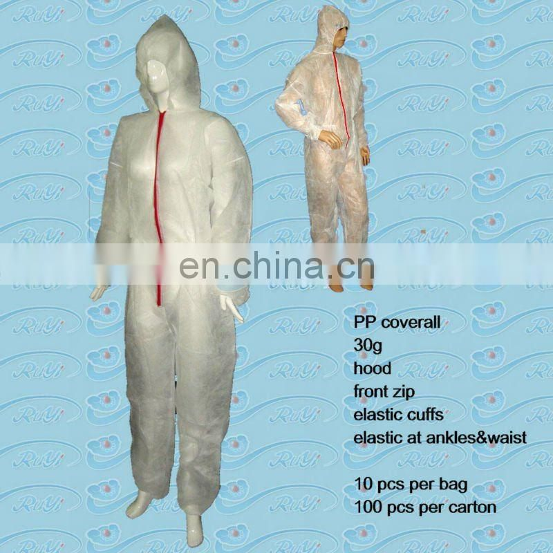protective disposable nonwoven workwear / spray suit