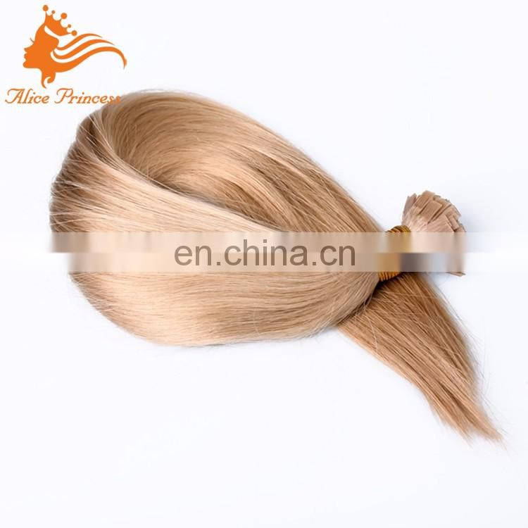 Flat Tip Hair Extension Honey Blonde Color 1g/pcs 100pcs/set Silky Straight Virgin Human Hair Extensions