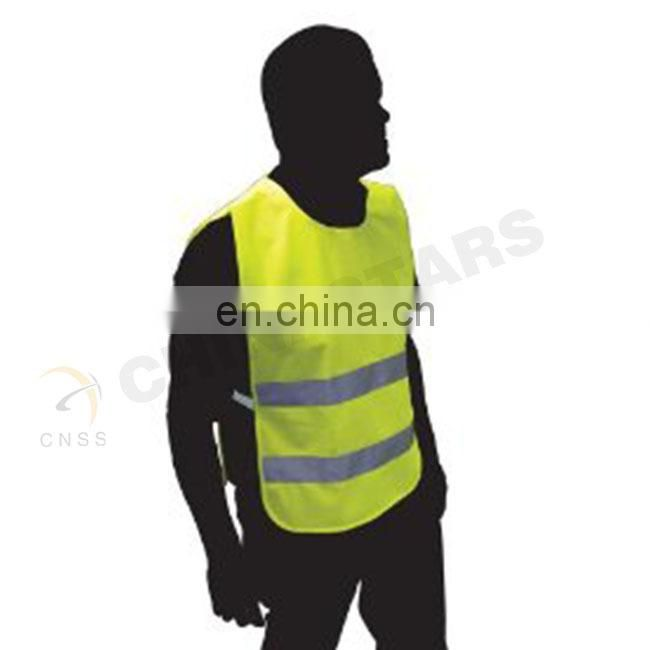 Runners vest with reflective tape and side elastic band