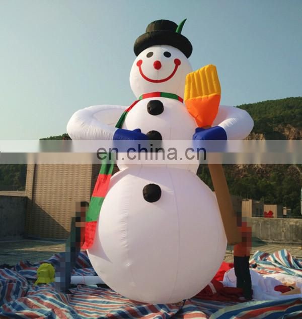 Factory price 5m inflatable giant Christmas snowman,outdoor advertising for Christmas decoration with air blower