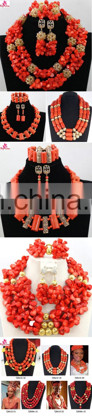 Wholsale african coral beads jewerly sets /african coral beads/african coral beads jewelry sets for nigerian wedding party