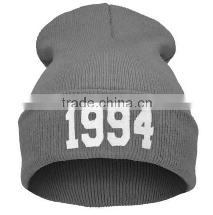 HOT Mens Womens Number 1994 Beanie Hat Warm Winter Knit Hip-hop Casual Caps Hats Style