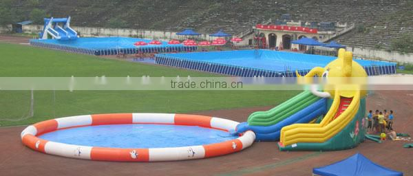 European standard good quality outdoor metal frame pool,Above Ground Swimming Pool