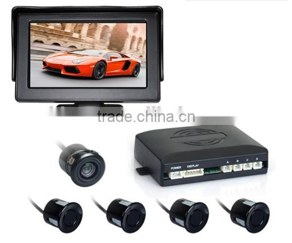Factory Rear view reverse parking system with camera and 4.3 inch LCD monitor, parktronic with camera, Car accessories China