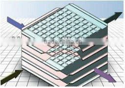 aluminum foils cross-counter flow plate heat exchanger