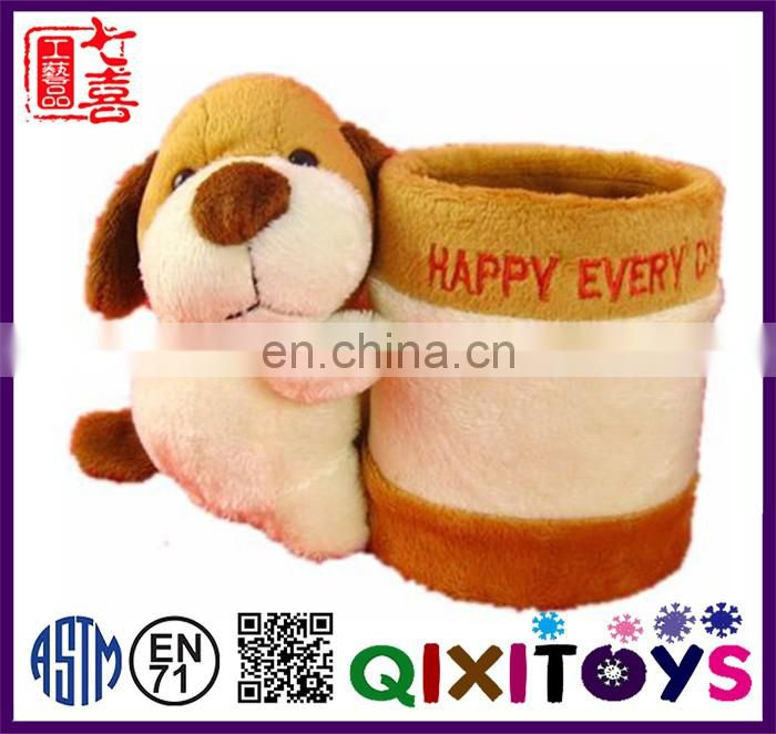 Hot sale lovely plush animal pen holder wholesale
