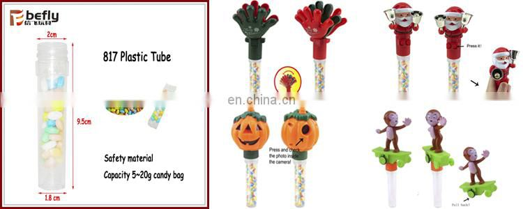 Wholesale plastic egg container candy toy with block