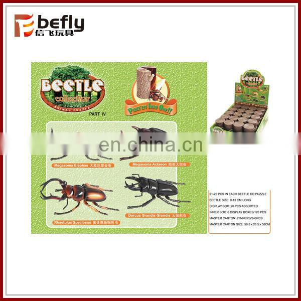 Hot sale plastic assemble diy toy beetle