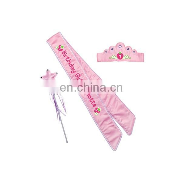 Two Layers Pink 21th Princess Birthday Sash