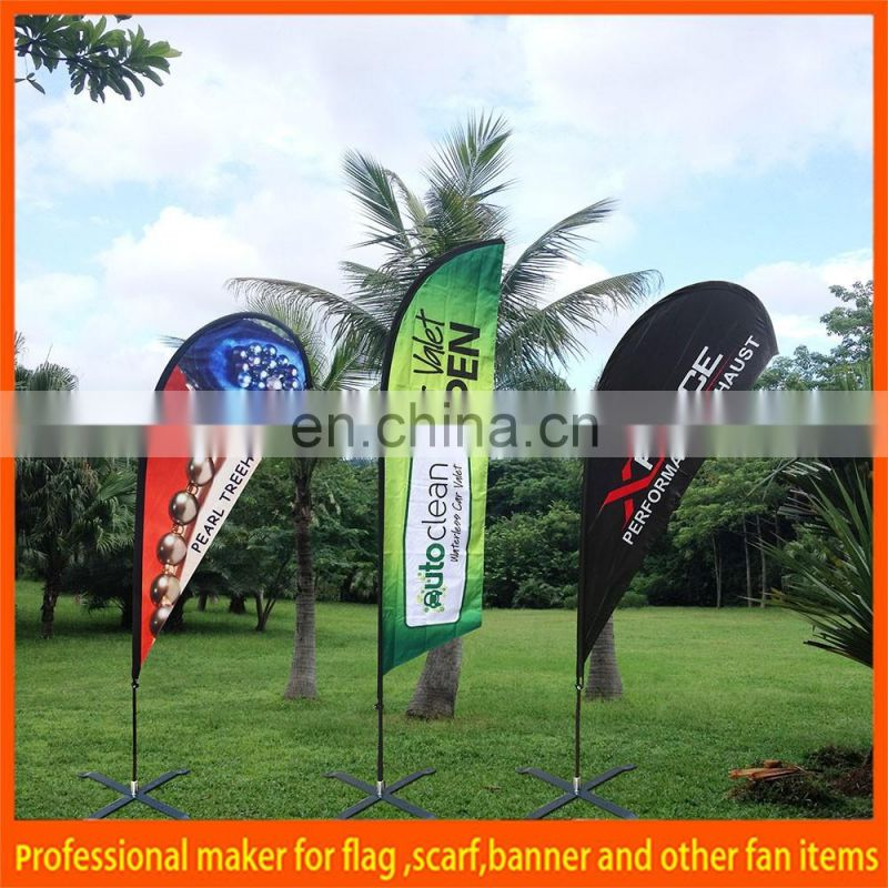 polyester beach flag for promo and advertising
