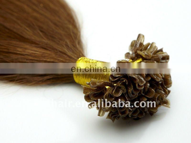 Fashionable 10A Grade Unprocessed Double Drawn Human Virgin Hair Nail Tip Hair Extension