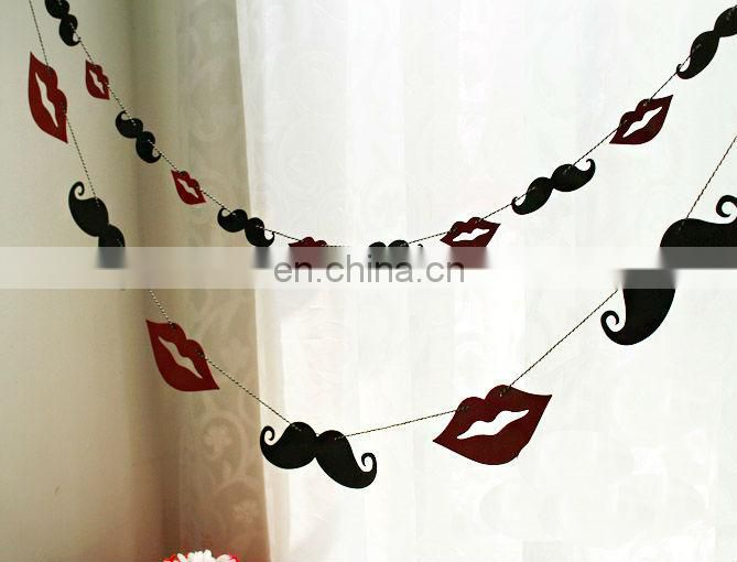 Wedding Party Decorations Mustache Garlands Buntings