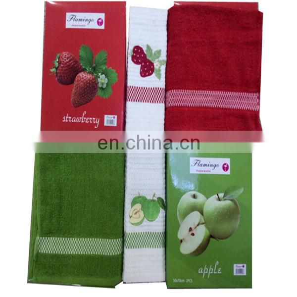 china tea towel suppliers gift towels with apple embroider designs