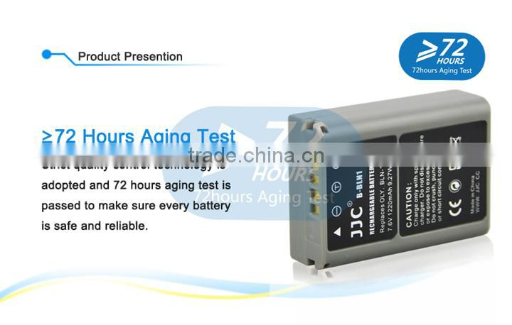 JJC 7.6V 1220mA Chargeable Camera Battery B-BLN1 Li-ion Battery For Olympus