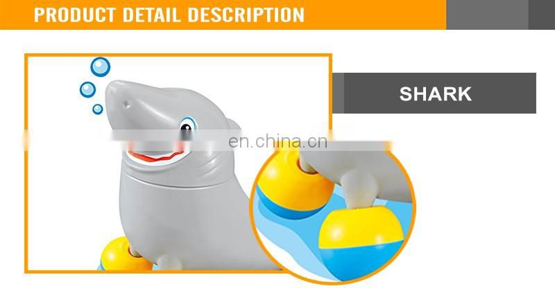 Funny B/O Shark Walking Toys with music and light battery operated shark toy