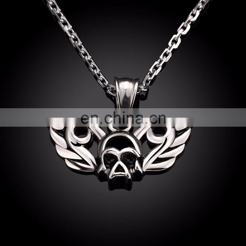 2017 Stainless Steel Skull Pattern Necklace Chain for Men
