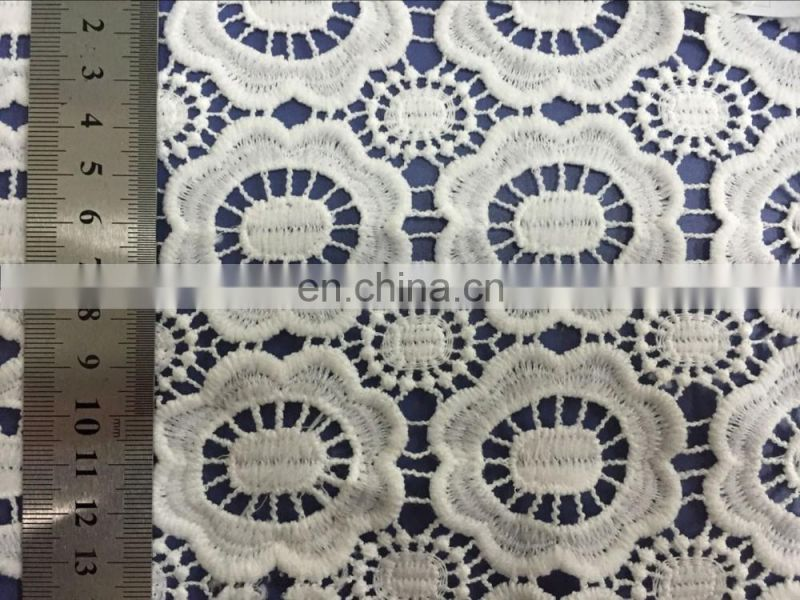 2016 wholesale Chemical Procuct type lace 100% Cotton Lace water soluble guipure cotton lace fabric