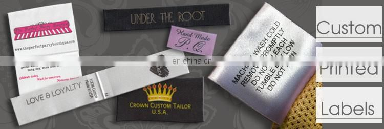 printed labels for clothing/woven label printing/printing clothing labels