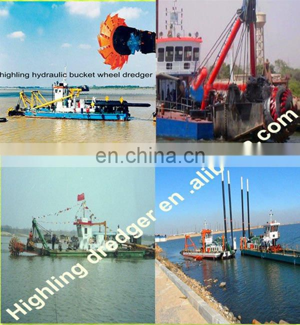 2500m3/h Hydraulic Bucket Wheel Sand Desilting Dredge Machine