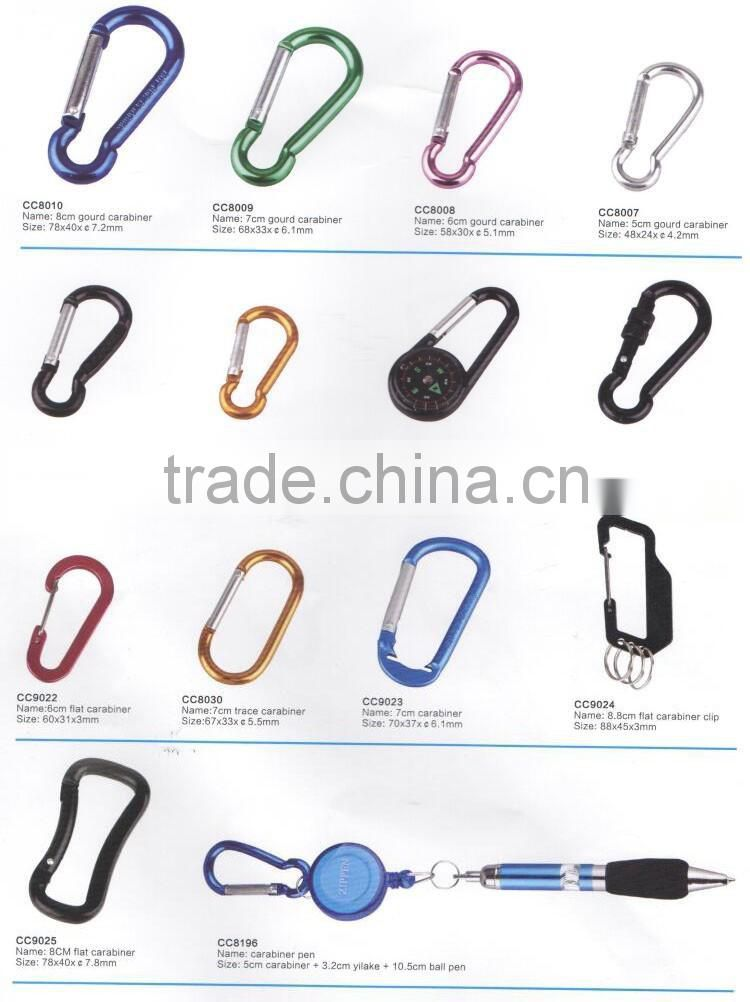 Black KAM plastic snap clip hooks,swivel carabiner snap hook,Mini carabiner for backpack