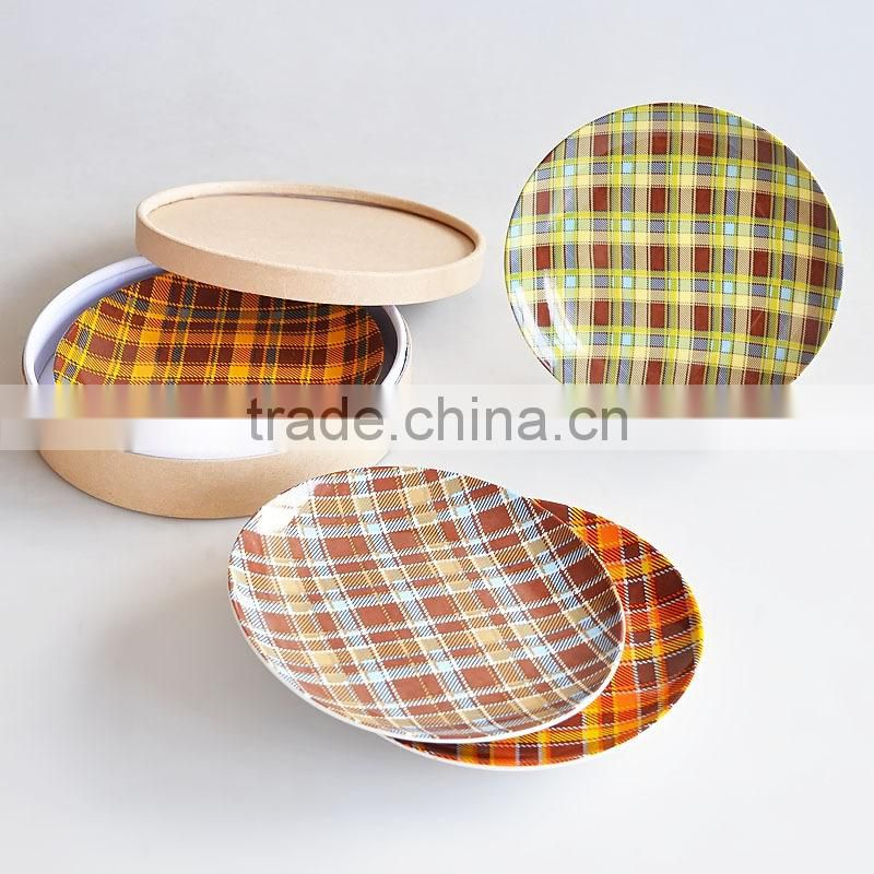Set of 4pcs porcelain plate with hat box-1