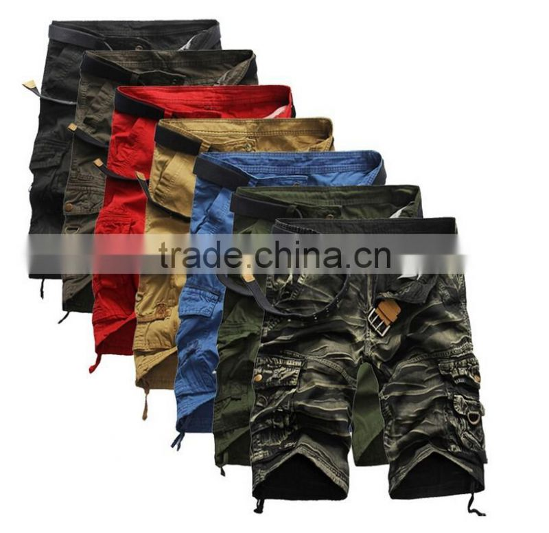 Mens Military Cargo Shorts 2016 Men Casual Sports Cargo Shorts men Camo Cargo Shorts Military Camouflage Short