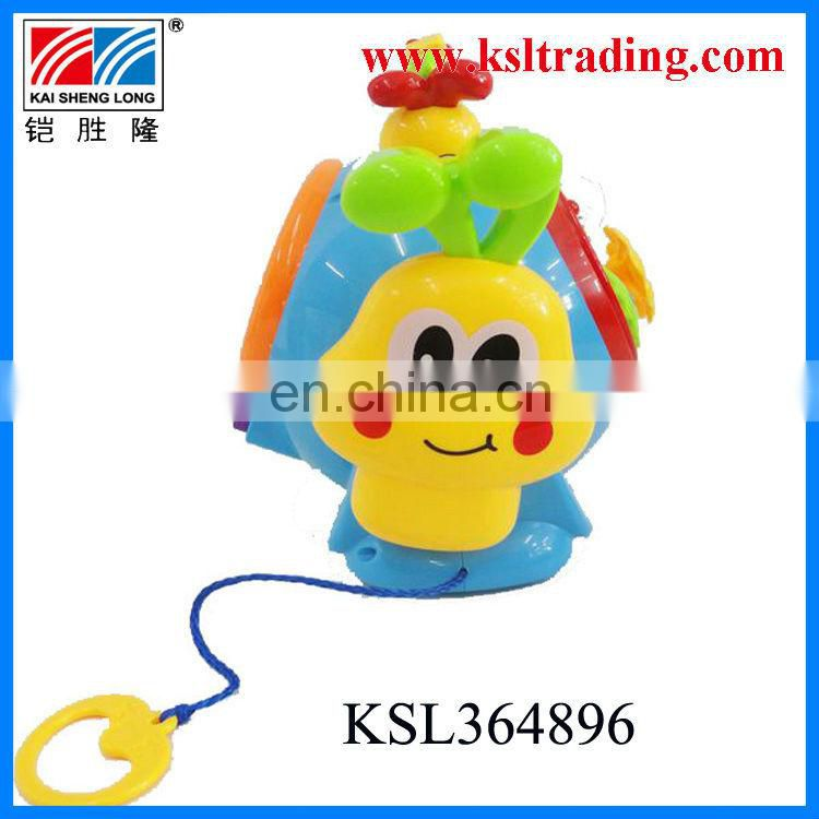 funny plastic kids snail toys with light and music