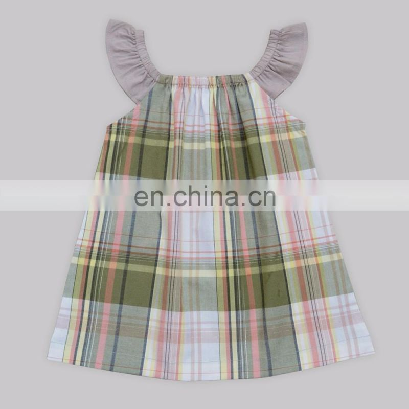 Casual Wear Plaid Dress for kids