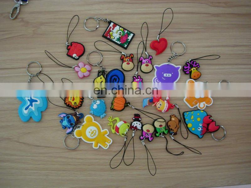 Cartoon Rubber Cellphone Charms With Dust Plug